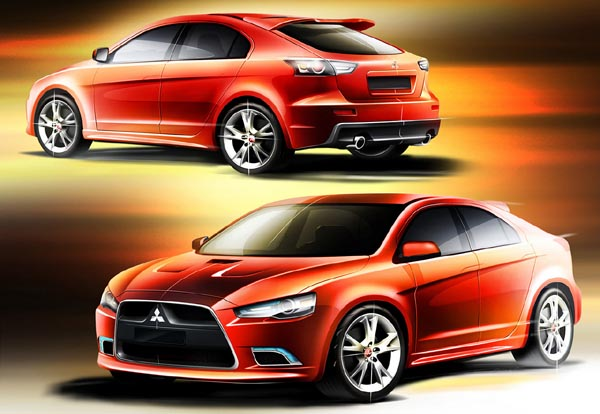image_11163_superimage Production Mitsubishi Lancer Sportback Resembles Saab 9-3