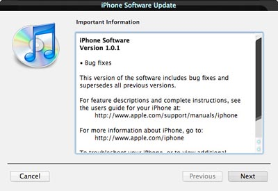 image_16565_largeimagefile Apple iPhone Gets Software Update 1.0.1