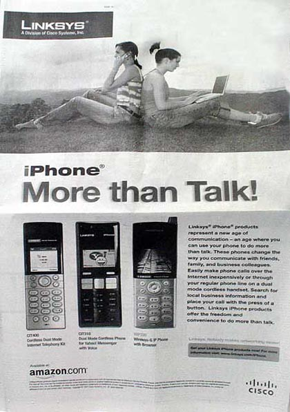image_21627_largeimagefile Cisco Attacks Apple with Full Page iPhone Ad in NYT