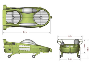 image_21812_largeimagefile X-Hawk Flying Car to be Ready by 2010 (Video)