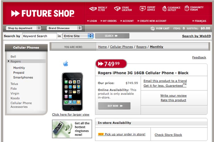 image_2432_superimage Get an iPhone 3G from Future Shop Without Contract?