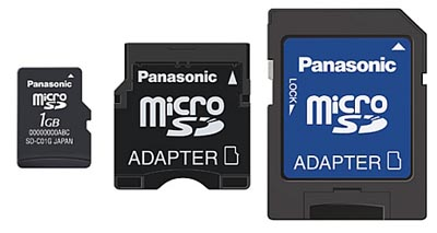 image_27330_largeimagefile Panasonic unveils microSD cards with miniSD adapters