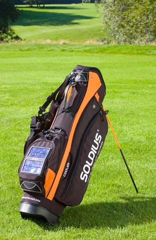 image_41812_largeimagefile Solar-powered Golf Bag fits gadget hounds to a Tee