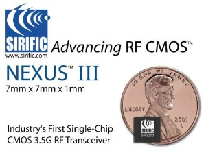 image_42005_largeimagefile Sirific releases single-chip CMOS HSDPA/WEDGE RF transceiver