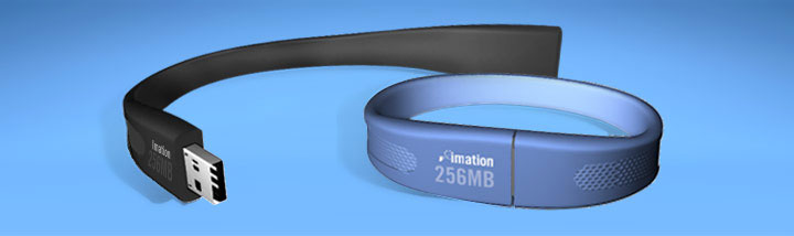 image_42769_superimage Imation Flash Wristband - a flash drive you can wear