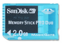 image_49434_largeimagefile SanDisk Announces 2GB Memory Stick PRO Duo Aimed at PSP Users