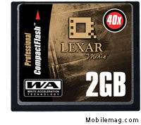 image_58496_largeimagefile Lexar 2GB CompactFlash Shipped - Speed Rated at 40X