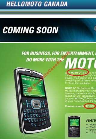 image_9633_largeimagefile Telus Mobility About to Grab Motorola Q9c Smartphone