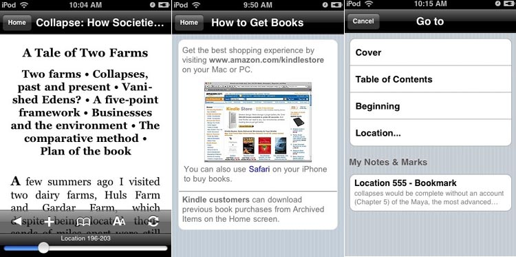 image_991_superimage Apple iPhone Gets Amazon Kindle Action with New App