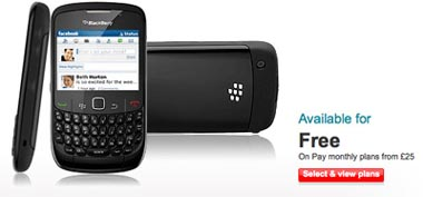 Vodafone Selling BlackBerry Curve 8520 for Free