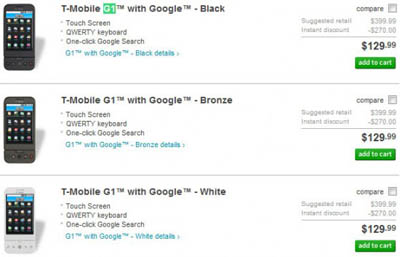 T-Mobile G1 Android Phone Just Got Cheaper