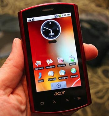 First Acer Android Smartphone Ready to Ship This Week
