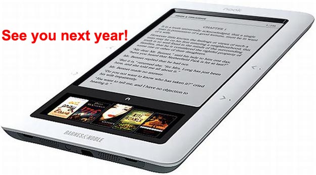 No Barnes & Noble Nook eBook Reader Until Next Year