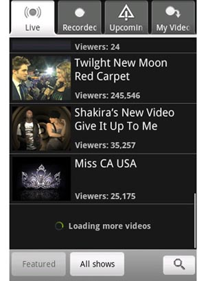 Use New Android App to View UStream Videos