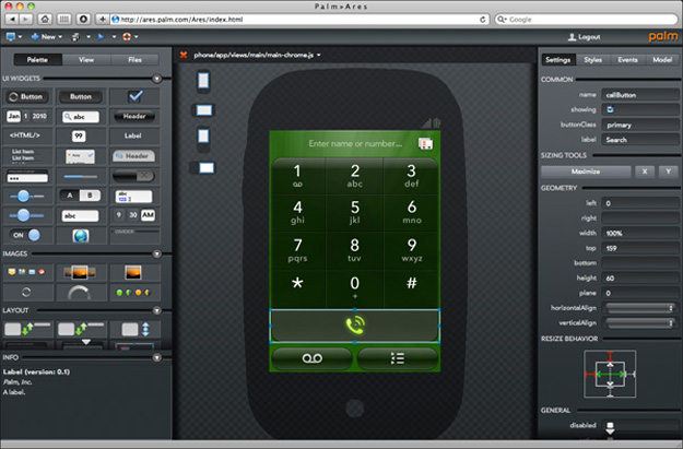 Develop Apps from the Web with Palm Ares SDK