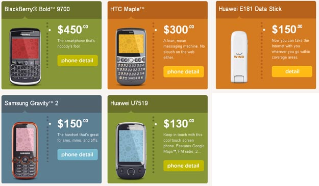 Wind Mobile Launches Today with Four Phone Choices