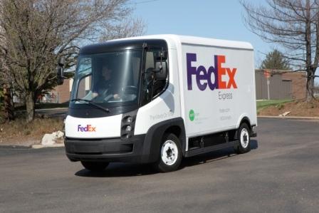 FedEx green electric truck - Photo: FedEx