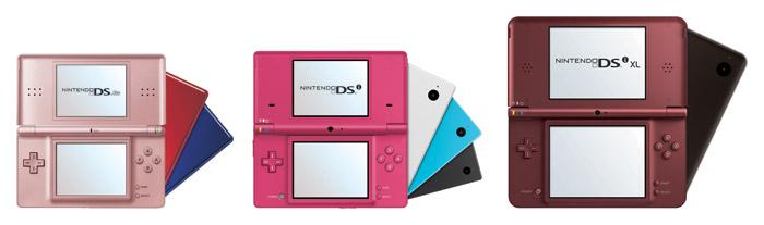 Nintendo DS Family: Nintendo DS Lite, Nintendo DSi, Nintendo DSi XL - Photo: Nintendo
