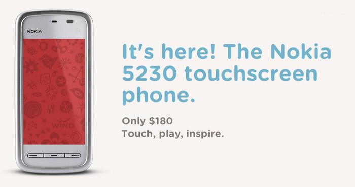 Nokia 5230 lands on Wind Mobile
