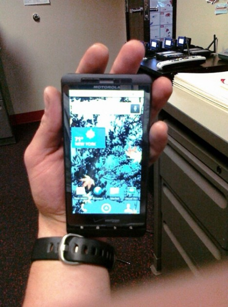 Verizon Motorola Shadow lost at a gym. Photo: CrunchGear