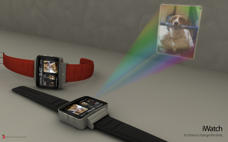 Toronto wireless and technology iwatch projector watch for Apple mobile projector