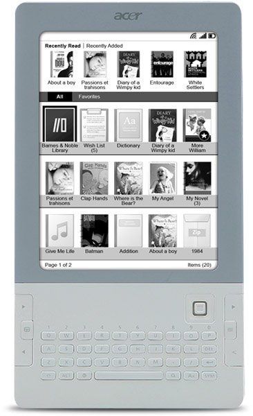 Acer LumiRead e-Ink eReader with QWERTY Keyboard