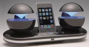 Speakal iCrystal orb speaker dock