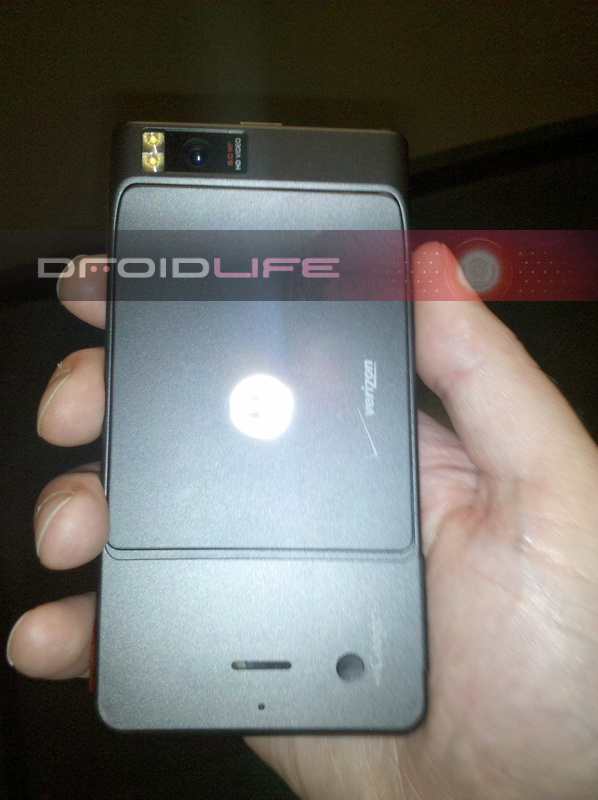 Motorola Droid Xtreme with bulging HD camera on back