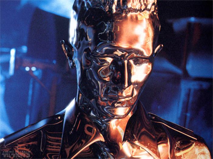 Liquid metal terminator from the movie