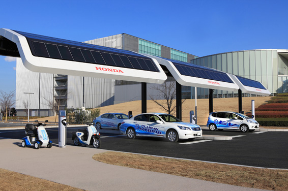 Honda Tests Solar Powered Charging Stations For Electric