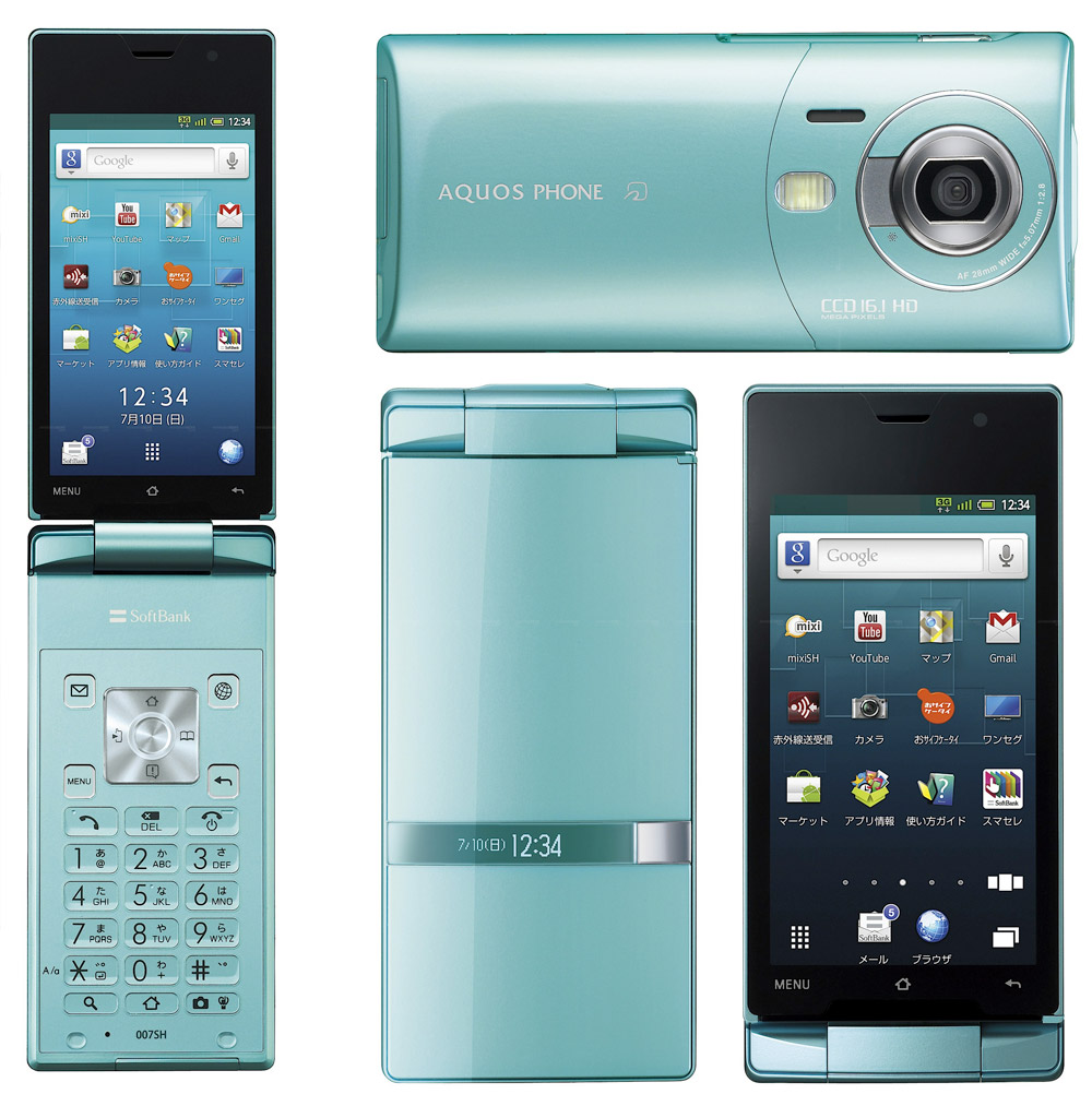 Smartphone Android Clamshell
