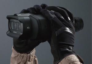 trenchcoat and binoculars
