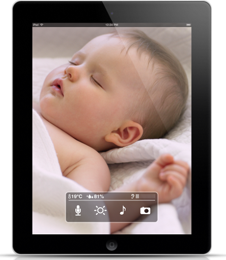 smart baby monitor for iphone ipad and ipod touch users video mobile mag. Black Bedroom Furniture Sets. Home Design Ideas