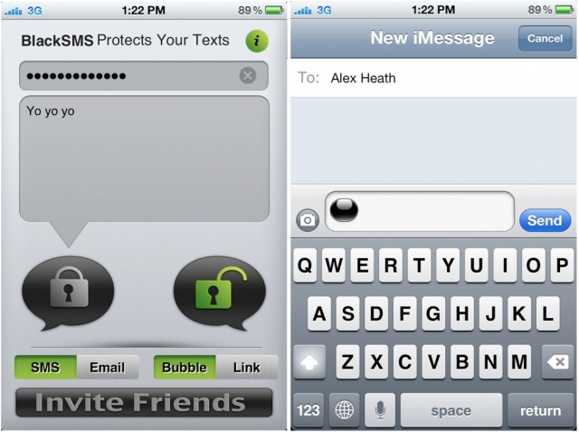 Black-sms-iphone-app