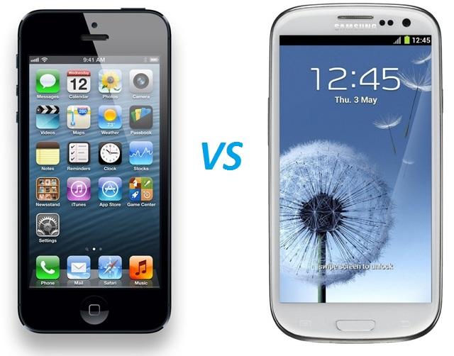 iPhone 5 versus Galaxy S3