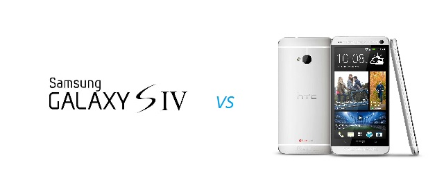HTC One versus Samsung Galaxy S4