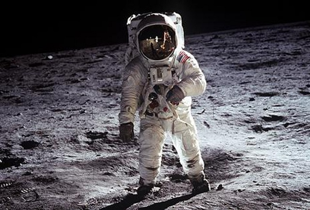 Image: Aldrin on moon during Apollo 11