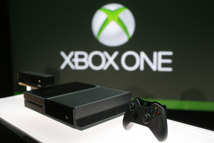 Xbox One is shown on display during a press event unveiling Microsoft's new Xbox in Redmond