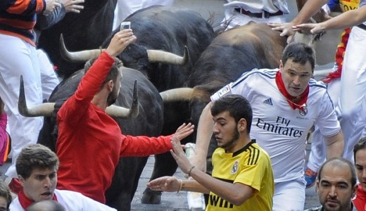 Running-Bulls-Selfie-Spain